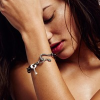 Free People Snake Lock Chain Bracelet