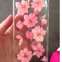Handmade Real  natural pressed colorful flowers iphone 6 6 plus case iphone 4s 5 5s 5c case samsung galaxy s5 note 2 note 3 case cover pink