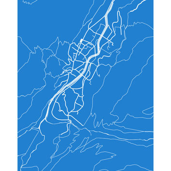 Zermatt Map Print - Switzerland Poster