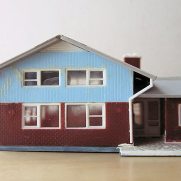 midcentury split leve ranch built up model home kit by ionesAttic