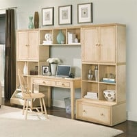 """Alaterre Collection 105"""" B-Cubed Study and Entertainment Center"""