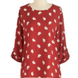 ModCloth Critters Mid-length 3 Zoom Bisou Top in Red Elephants