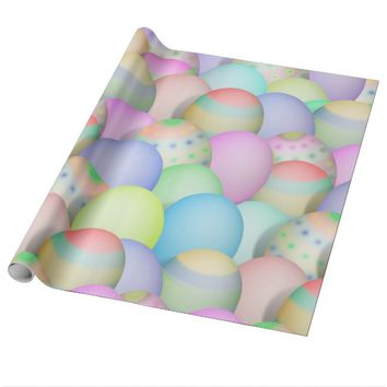 Colored Easter Eggs Background Wrapping Paper