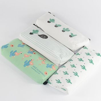 cactus pencil case Cat material escolar Goose estojo escolar papeleria school supplies pencil box pencilcase pen case