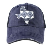 Katydid Rhinestone Texas Fashion Trucker Hat