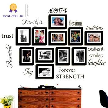 Removable Wall Decal Art Sticker Mural Home Living Room Decor Quote Family Words