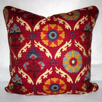 Medallion Pillow cover in Myan Gem by Waverly