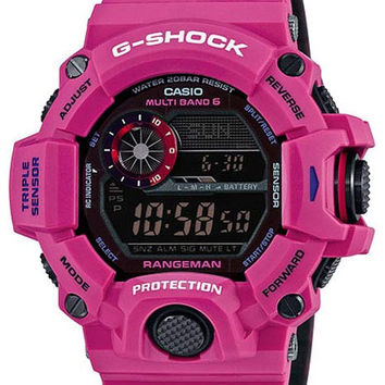 Casio Mens G-Shock Purple Rangeman - Solar - Atomic - Altimeter - Barometer