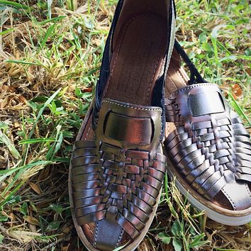 Mexican Leather Sandals Inox
