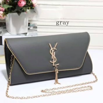 YSL tassell Women Shopping Leather Metal Chain Crossbody Satchel Shoulder Bag