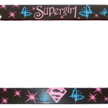 Supergirl Plastic License Plate Frame