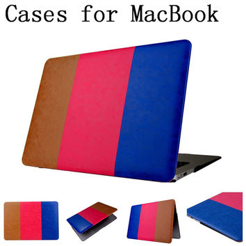 Hot sale Hit color pattern shell case cover for Apple Macbook Air Pro Retina 11.6 13.3 inch laptop Cases For Mac book bag,013DH