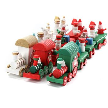 Wedding Favors and Gifts for Guest Little Train Popular Wooden Train Decor Christmas Ornaments New Year Supplies