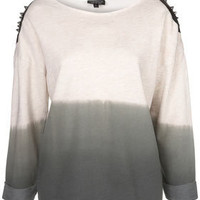 Studded Dip Dye Sweat - Jersey Tops  - Clothing  - Topshop