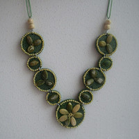 "Polymer clay seeds and grains necklace ""Close to Nature"""