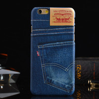 New fashion denim Phone Case for iphone6 painting protective shell mobile phone shell fashion phone casing for iPhone