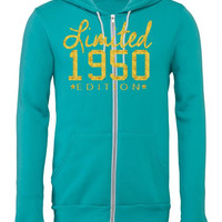 limited 1950 edition Zipper Hoodie