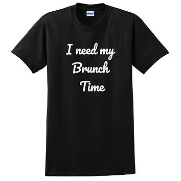 I need my brunch time funny saying cute mimosa graphic T Shirt