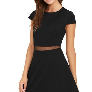 Legendary Lovers Black Skater Dress