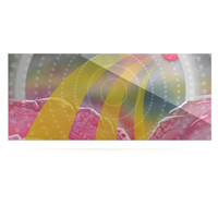 "Infinite Spray Art ""Enlightening"" Pink Yellow Luxe Rectangle Panel"