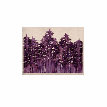 "Ebi Emporium ""Forest Through The Trees 2"" Purple White KESS Naturals Canvas (Frame not Included)"