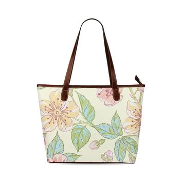 Wild Flowers Shoulder Tote