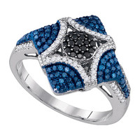 Diamond Fashion Ring in 10k White Gold 0.6 ctw