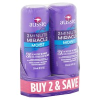 Aussie 3 Minute Miracle Moist Deep Conditioner, 8 Fl Oz, 2 Ct - Walmart.com