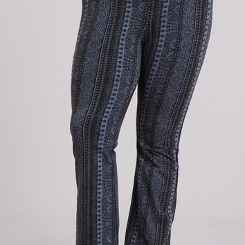 Plus Size Mineral Washed Print Yoga Pants