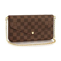 Louis Vuitton Damier Ebene Pochette Félicie Wallet Clutch Article: N63032