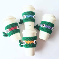 COFFEE COZY / Crochet TMNT Coffee Cozy / Crochet Teenage Mutant Ninja Turtles Coffee Cozy / Coffee Sleeve / Mug Cozy / Crochet coffee sleeve
