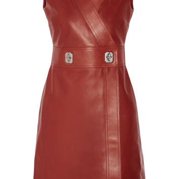 Gucci - Leather wrap dress