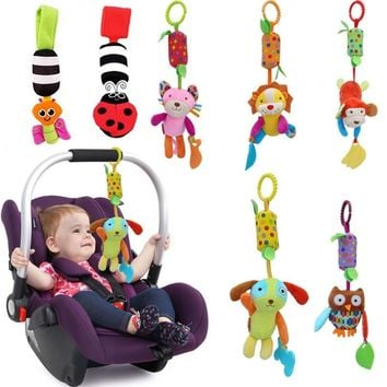 Hot-Selling Baby Gift New Infant Toys Mobile Ring Baby Plush Toy Bed Wind Chimes Rattles Bell Toy Stroller for Newborn