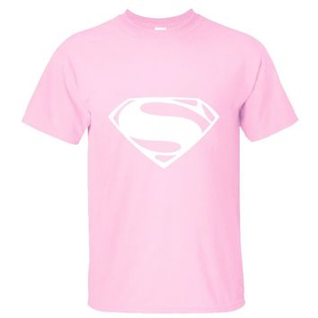 CRAZY POMELO Superman Logo Men's T-shirts Pink - XS