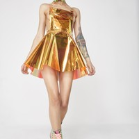 Flame Gurl Hologram Overall Dress