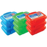 Bulk Plastic Snack Containers with Lock-Top Lids, 3-ct. Packs at DollarTree.com