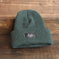 the Fisherman's Patch Beanie in Forest