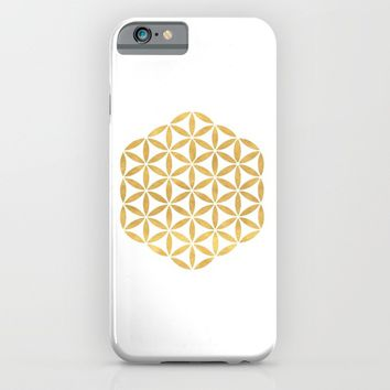 FLOWER OF LIFE sacred geometry iPhone & iPod Case by deificus Art