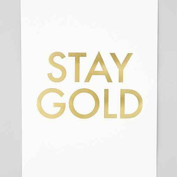 Jennifer Vallez Stay Gold Art Print- Gold One