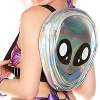 Iridescent Alien Mini Backpack