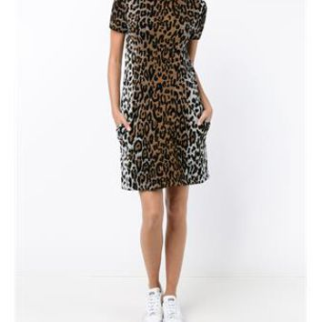 STELLA MCCARTNEY | Wool-Blend Cheetah Jacquard Dress | Womenswear | Browns Fashion