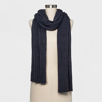 Women's Ribbed Knit Scarf - A New Day™