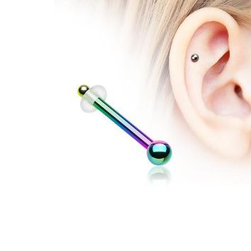 Colorline Ball Top Basic Piercing Stud with O-Rings