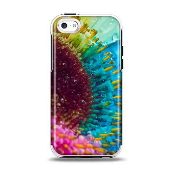 The Vibrant Colored Wet Flower Apple iPhone 5c Otterbox Symmetry Case Skin Set