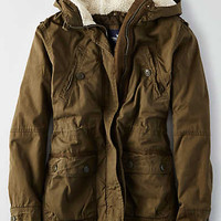 AEO Cotton Parka , Olive