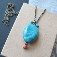 Turquoise Stone Necklace Summer Jewelry For Women. from Pulp Sushi