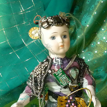 Assemblage Steampunk Sci Fi Art Doll at Etsy by by mystic2awesome