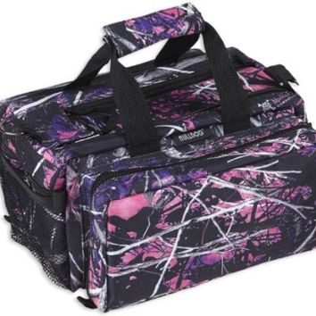 Bulldog Cases Deluxe Muddy Girl Range Bag with Strap, Camo/Black