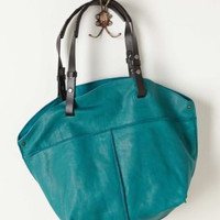 NWT ANTHROPOLOGIE by HOLDING HORSES LEATHER TURQUOISE CITY PICNIC HOBO