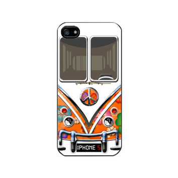 iPhone 5 Case iPhone 5 Hard Cover Hippie VW Camper Van by momocase